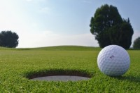 golf hole and ball